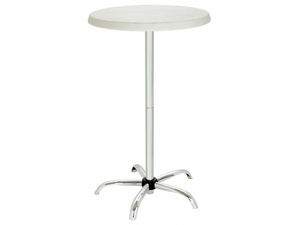 Bartscher Round Bar table - Adjustable 67.5 (h) cm to 117 (h) cm - 70cm dia - Height adjustable and fully Collapsible