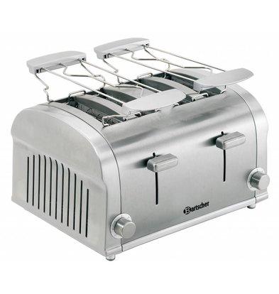 Bartscher 4 Scheiben-Toaster mit 2 herausnehmbaren Krümelbleche - 32x27x (H) 19,5cm - 1400W