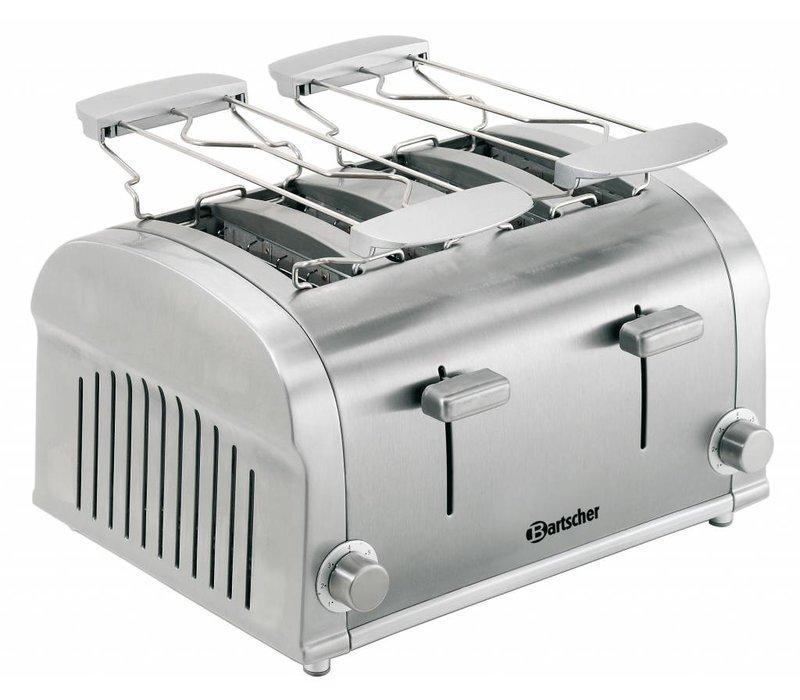 Bartscher 4 sneden toaster met 2 uitneembare kruimellades - 32x27x(H)19,5cm - 1400W