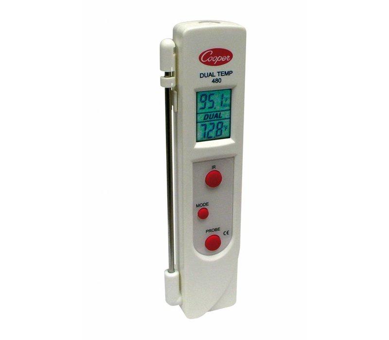 Bartscher Infrarot-Thermometer Sonde | -33 C bis +220 C (-27> F bis +428> F) | 33x22x (H) 160 mm