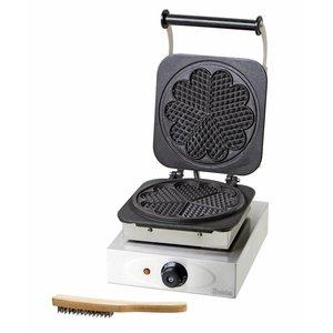 Bartscher Waffeleisen - mit Grillplatte in Herzform - 285x360x (h) 230mm - 2.2KW