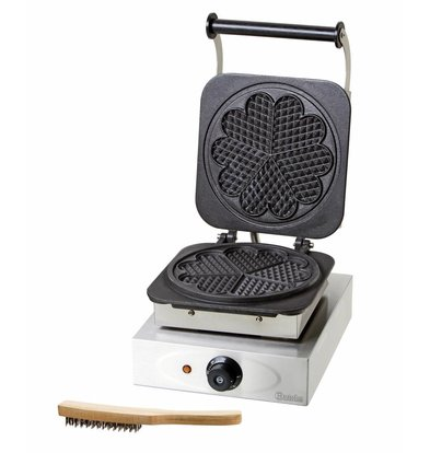 Bartscher Waffle maker - with griddle in heart shape - 285x360x (h) 230mm - 2.2KW