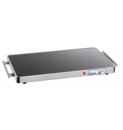 Bartscher Electric Hot Plate - Glass - 1/1 GN - 57x31x (h) 4cm