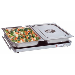 Bartscher Electric Hot Plate - Glass - 2/1 GN 67x55x (h) 4cm