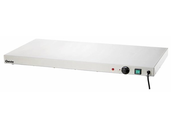 Bartscher Electric Hot Plate - Stainless Steel - 90x45x (h) 6.5cm