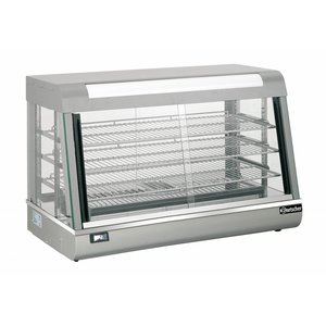 Bartscher Warming Vitrine RVS - 3 Roosters - Side 2 Operable - LED Lighting - 900x4801x (h) 590mm