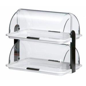 Bartscher Doppelbuffet Vitrine | Kunststoff | Plexiglas | 470x315x (H) 415 mm