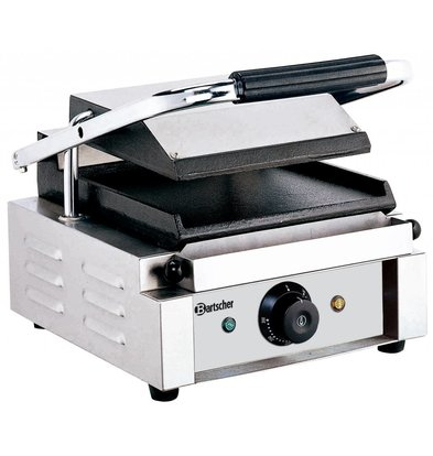 Bartscher Electric contact grill - Smooth / Smooth - 29x37x (h) 20 - 1800W