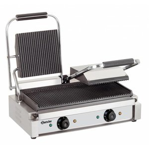 Bartscher Electric double contact grill - grill plates grooved - 57x37x (h) 20 - 3600W