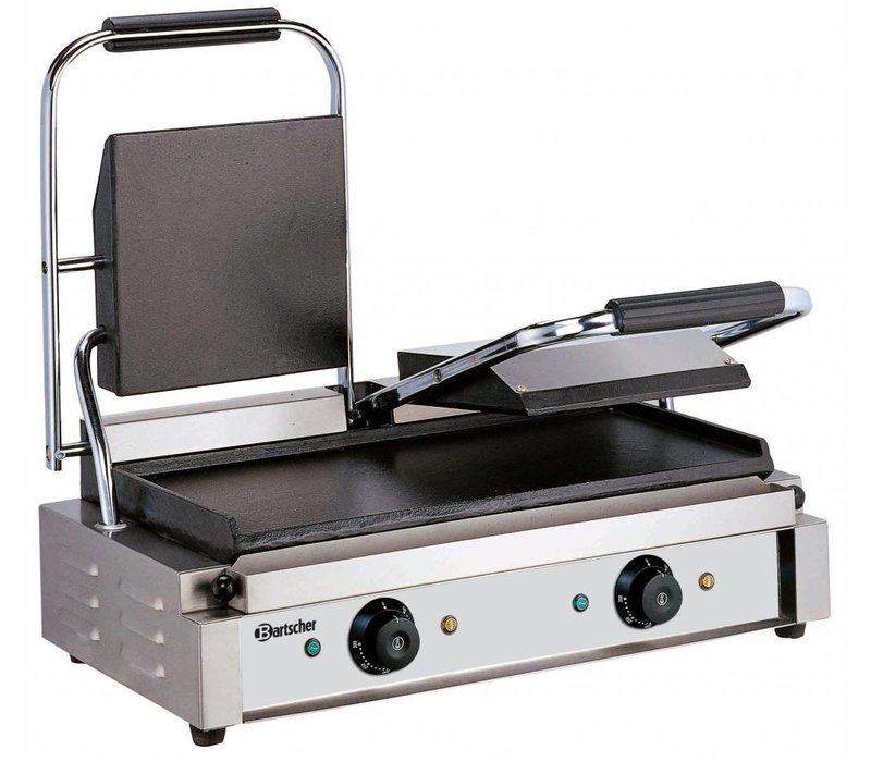 Bartscher Electric double contact grill - Smooth / Smooth - 57x37x (h) 20 - 3600W