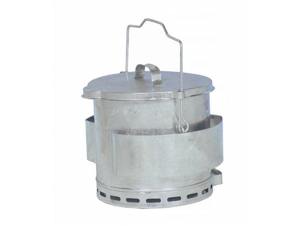 Bartscher Frittierfett Relief Eimer | Inhalt 12 Liter | Ø280x (H) 400mm