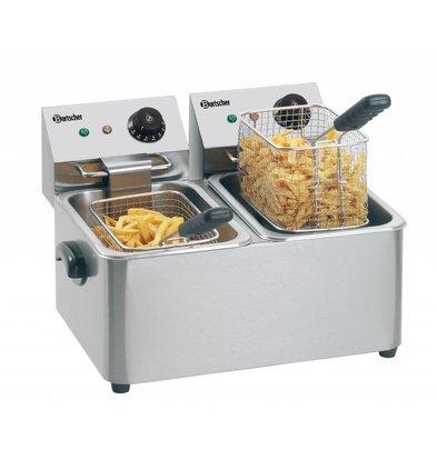 Bartscher Double Fryer | 2x4 Liter | 2x2kW | 435x400x (H) 315mm