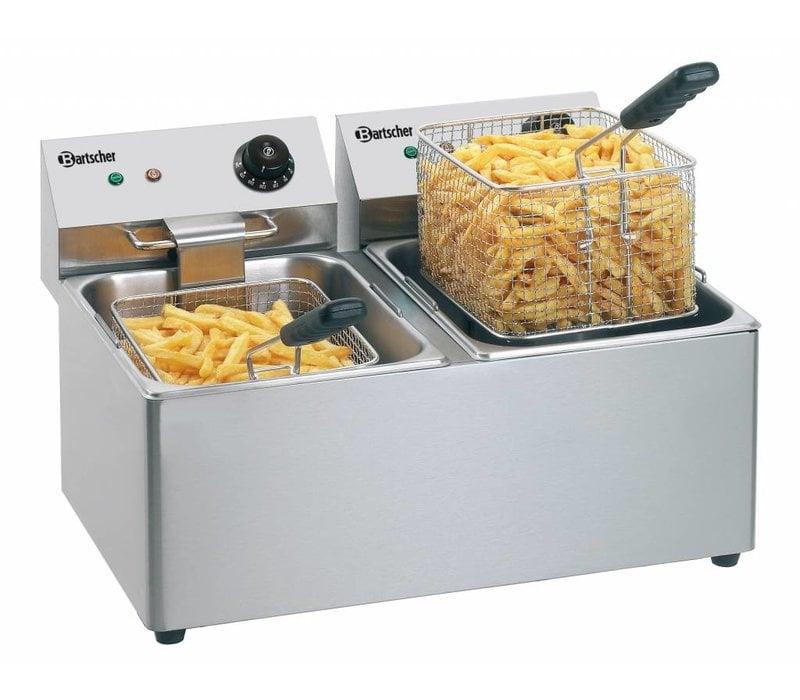 Bartscher Double Fryer | 2x8 Liter | 2x3,25kW | 550x430x (H) 340mm | MOST SOLD!