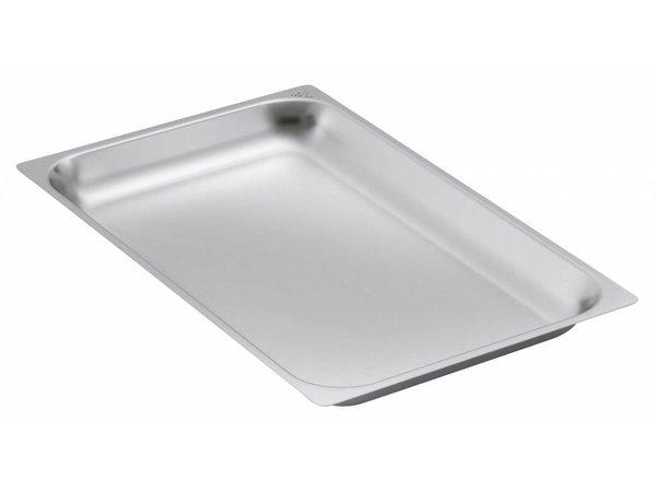 Bartscher GN-bakken, versterkte rand - bakblik 2/1 - GN, 20 mm, CNS 18/10   650x530mm