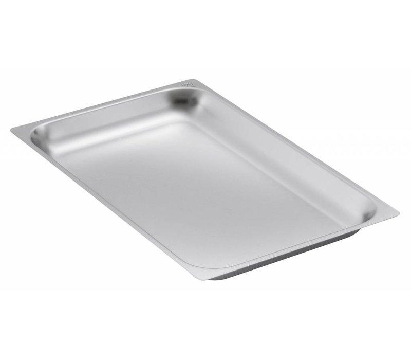 Bartscher GN-Behälter verstärktem Rand - tin 2/1 - GN, 65 mm CNS 18/10 | 650x530mm