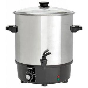 Bartscher Heetwaterpan / Gluhweinpan with faucet | Stainless Steel Boiler | Ø450 mm | 25 liter