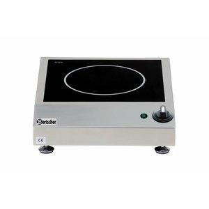 Bartscher Inductie-kooktoestel - 1 zone - 34x42x(h)10 - 2500W/230V