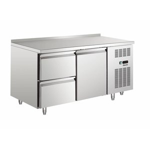 Bartscher Cooling Table - Stainless Steel - Water Edge - 1 door + 2 drawers - 148x70x (h) 90cm