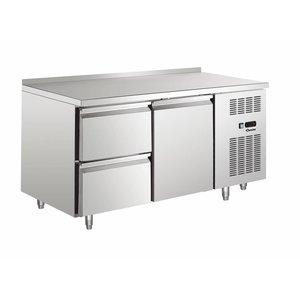 Bartscher Kühltisch - Edelstahl - Water Edge - 1 Tür + 2 Schubladen - 148x70x (h) 90 cm