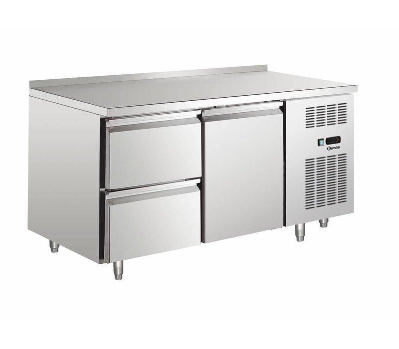 Bartscher Cooling Table - Stainless Steel - Water Edge - 1 door + 2 drawers - 148x70x (h) 90cm