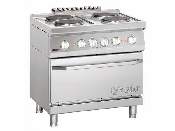 Bartscher 4 + elektrische Kochelektrobackofen 2/1 GN | 400V | 5,4kW | 800x700x (H) 850-900 mm