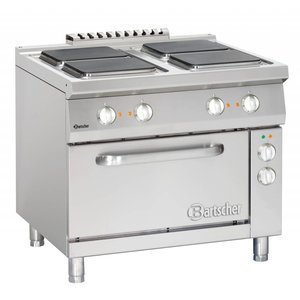 Bartscher Elektrische Kookplaten 4x Serie 900 + Elektrische Oven 2/1 GN   400V   900x900x(H)850-900mm