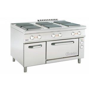 Bartscher 6 Elektrische Kookplaten Serie 900 | 400V | 1350x900x(H)850-900mm
