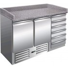 Saro Pizza Workbench - SS - 2 doors and 6 drawers x70x -142 (h) 102cm