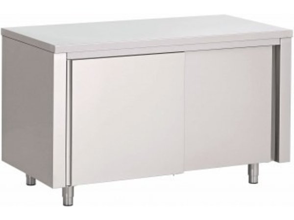 Saro Stainless Steel Cupboard with sliding doors | 2000x700x850mm