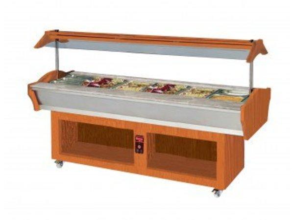Saro Buffet-Island, heated Model AMINA 4 Walnut