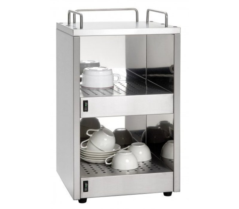 Saro Cup warmer Stainless | 48 cups | 320x320x (H) 545mm | XXL OFFER!