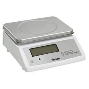 Bartscher Electronic Kitchen Scale - Max. 15 kg - display from 2 g