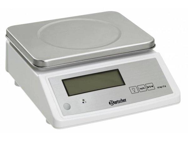 Bartscher Elektronische Küchenwaage - max. 15 kg - Anzeige von 2 g