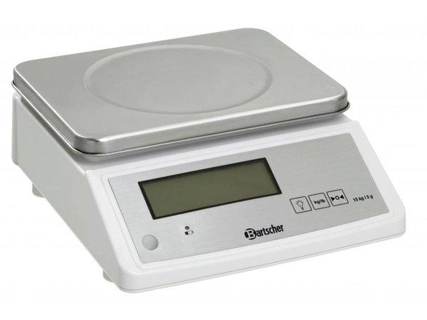 Bartscher Elektronische Küchenwaage - max. 15 kg - Spielen von 5 g