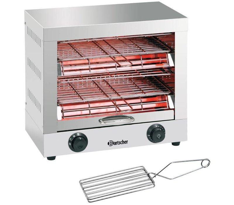 Bartscher Toaster / Quartz gratineeroven, mit Doppel-Zeitschaltuhr - 44x26x (H) 40cm -3000W