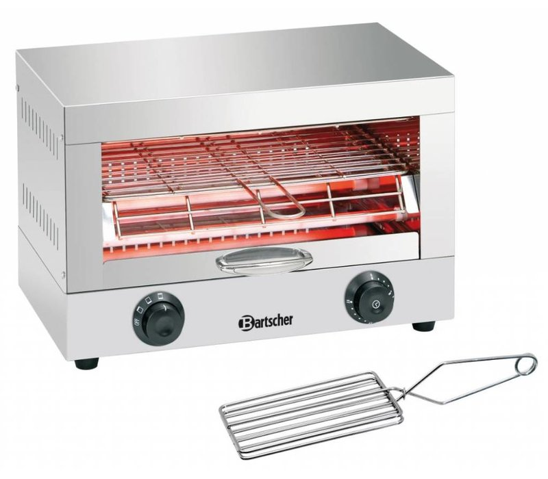 Bartscher Toaster / Quartz gratineeroven only includes toast tongs - 44x26x (H) 29cm - 1700W