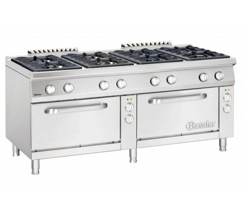 Bartscher Stovetop 8 Pits + 2/1 GN Electric Ovens | 400V | 1800x900x (H) 850-900mm