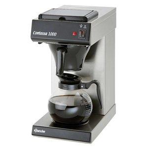 Bartscher Coffee machine Contessa 1000 | Chrome nickel steel | 2kW | 1.8 Liter | 215x385x (H) 460mm