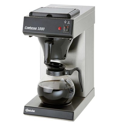 Bartscher Coffee machine Contessa 1000 | Chrome nickel steel | 2kW | 1.8 Liter | 215x385x (H) 460mm