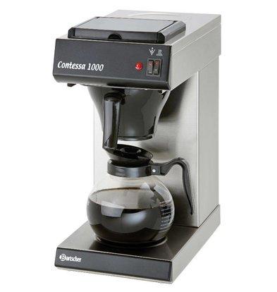 Bartscher Koffiemachine Contessa 1000 | Chroomnikkelstaal | 2kW | 1,8 Liter | 215x385x(H)460mm