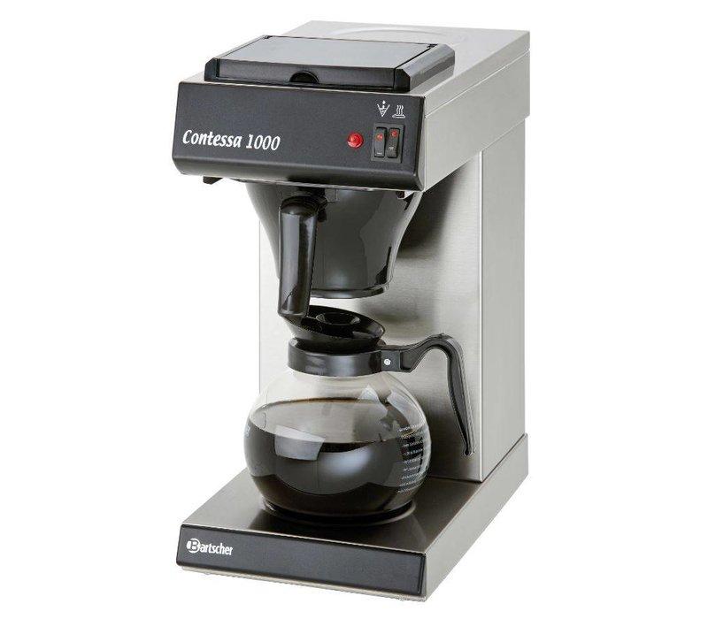Bartscher Kaffeemaschine Contessa 1000 | Chromnickelstahl | 2kW | 1,8 Liter | 215x385x (H) 460mm