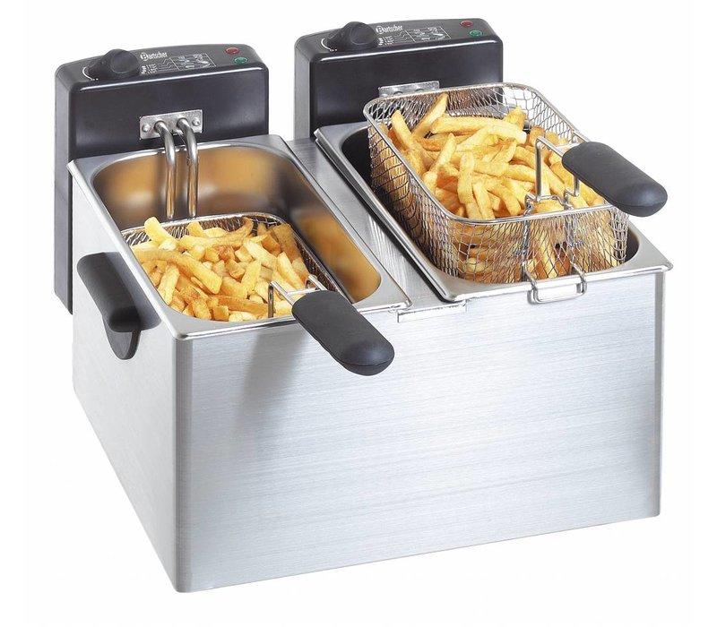 Bartscher Doppel Fritteuse | 2x4 Liter | 2x2,2kW | 400x400x (H) 280mm