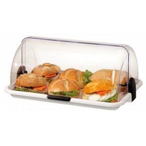 "Bartscher Buffet Display   ""Small""   Plastic White   Plexiglass   390x260x (H) 170 mm"