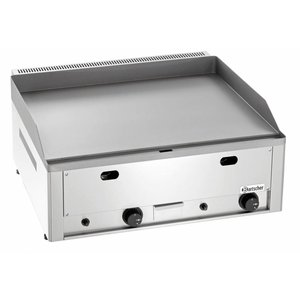 Bartscher Gas Griddle - Cast iron / Smooth - 66x60x (H) 29.5 cm - 8 Kw