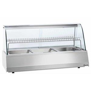 Bartscher Warming Vitrine RVS - 1 Rost - 2 Schiebefenster - 3/1 GN - 1080x775x (h) 600mm