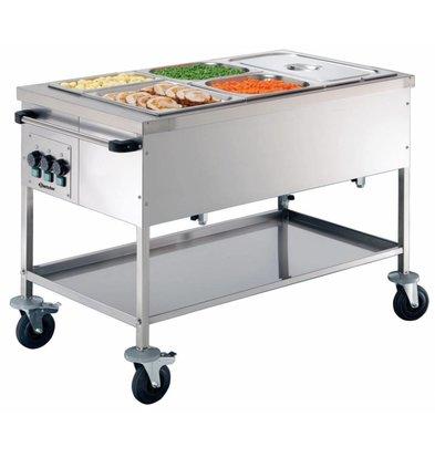 Bartscher Voedseltransportwagen 3x1/1 GN | 150mm diep | 650x1200x(H)855mm