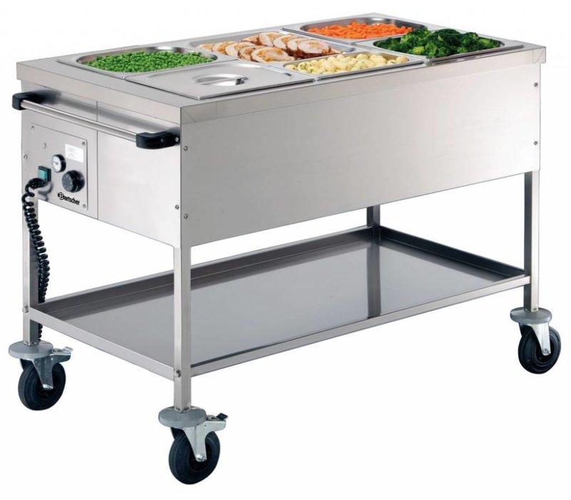 Bartscher Voedseltransportwagen 3x1/1 GN | 200mm diep | 650x1200x(H)855mm