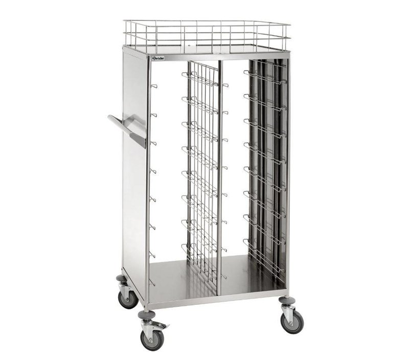 Bartscher Tray trolley / Clearing trolley - for 2x8 trays - 925x620x (h) 1700mm