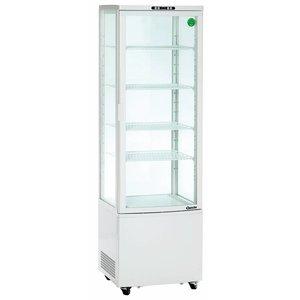 Bartscher Refrigerated display case - White - 235 liters - With Wheels