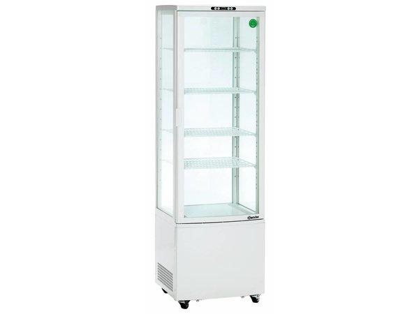 Bartscher Kühlvitrine - White - 235 Liter - Mit Rädern